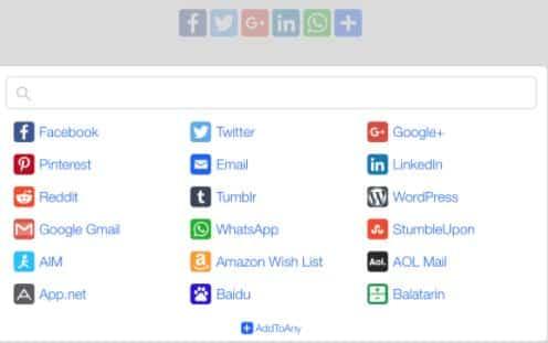 AddToAny Share Buttons – WordPress plugin