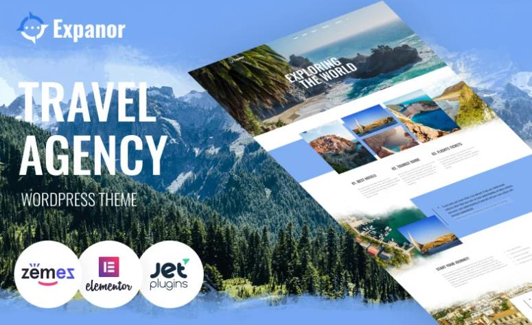 Expanor - Travel Agency WordPress Theme