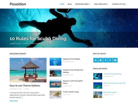 Poseidon - WordPress theme