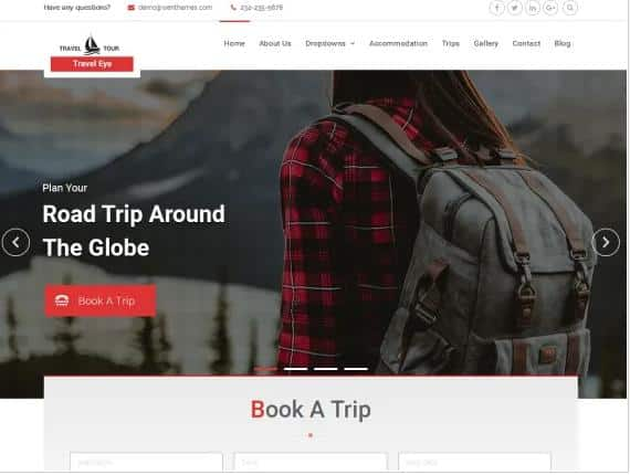 Travel Eye - WordPress theme